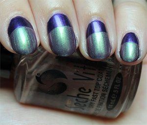 See more swatches, details about the products I used & Ruffian tips here: http://www.swatchandlearn.com/nail-art-ruffian-nails-using-zoya-suri-duri-divas-only/
