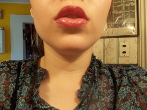 Cranberry lips! Now that my hair is dark brown, I love wearing red/cranberry shades :)
