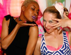 With Beautylish super intern Reva! Photo by Shawn Smith