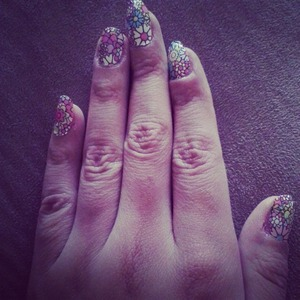 Summer flowery nails ??