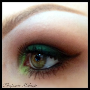 Eyeball :) follow @kimpants on Instagram to see a quick video of how I did this makeup