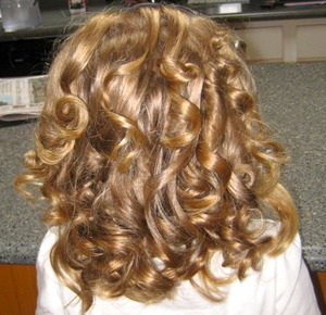 These curl were created with Foam Rollers by: Conair