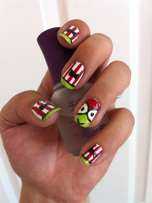 This nail art tutorial was inspired by Nat.