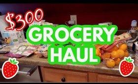 $300 GROCERY HAUL | MONTHLY GROCERY HAUL | GROCERY HAUL