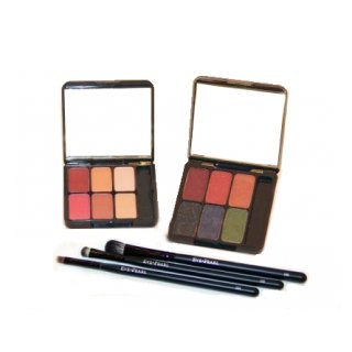 Eve Pearl 2 Eye Palettes w/Brushes Set