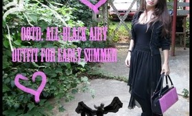 OOTD: All-Black Airy Outfit for Early Summer