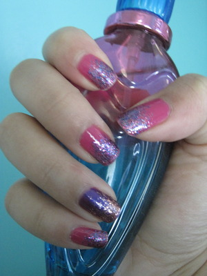 gradient purple fushia