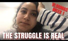 The Struggle is REAL | Vlogmas week 1 | Virginiaaaxo