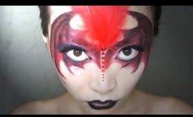 Halloween  BATWOMAN Makeup ~ Devil wing mask ~