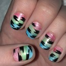 Tiger Stripe Nails!