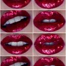 Red Glittery Lips