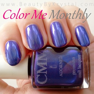 review: http://www.beautybykrystal.com/2013/03/color-me-monthly-march-adorned.html
