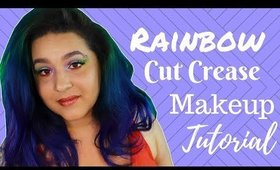 Rainbow Cut Crease Makeup Tutorial feat Pinky Rose and Violet Voss
