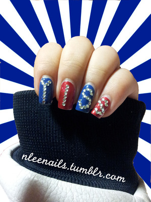 YISS (Yongsan International School of Seoul) is my current high school. As the president of our school's pep band, I wanted to express school spirit on my nails as well (:  GUARDIANS LET'S GO!  nleenails.tumblr.com @nleenails