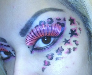 pink with pink lashes!! : D