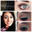 Peek-a-blue