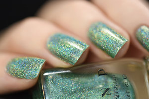 "ILNP.com - Ten Fold is a delicate cool minty green nail polish stuffed with an intense holographic sparkle. You'll absolutely love it!  Ten Fold is part of ILNP's new ""Ultra Holo"" class of super intense holographic nail polishes; specifically formulated for maximum, in-your-face holographic sparkle!"