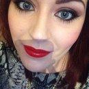 Ruby lip brown eye 1 ❤️