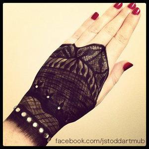 fingerless lace glove makeup by Jess Stoddart at https://www.facebook.com/jstoddartmub