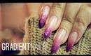 Gradient Faux-Gel Glitter Nails