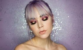 Glam Purple and Gold Eye Look