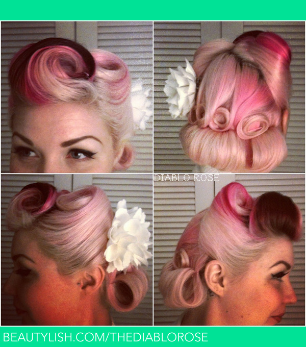 Vintage Pin Up Hair With Victory Rolls And Pin Curls Diablo Rs