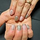 Gold Nails/Glitter Nails/Nails