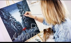 A Winter Dream: DIY Painting Tutorial   ANNEORSHINE