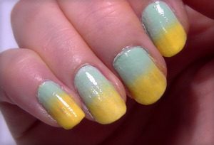 A simple, and easy nail art design using a sponge to create a gradient effect. If you'd like to see the video, it can be found at http://www.youtube.com/watch?v=2QZG7ZZKcjU