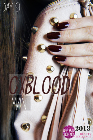 Oxblood manicure using a concoction of black and red polish :)  www.kakabeautyblog.com