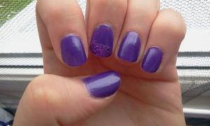 "NYX Girls Nail polish in ""Complex Purple""."