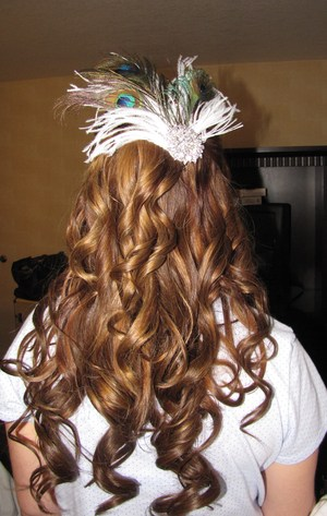 Bridal Hair, colored hair to match extensions, and hair piece by me