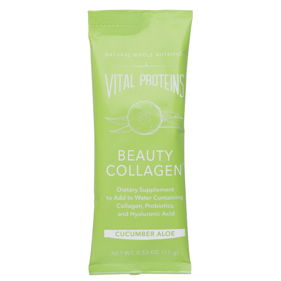 Vital Proteins Beauty Collagen - Cucumber Aloe Stick Packs product swatch.