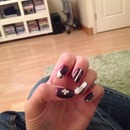 New metallic nails with purple