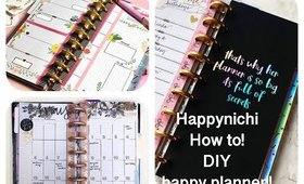 HAPPYNICHI PLANNER!  DIY WITH A HAPPY PLANNER HAPPY NOTES!