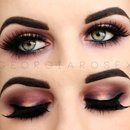 Purple & Gold Smokey Eye