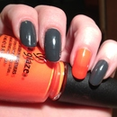 China Glaze Concrete Catwalk & Orange Knockout