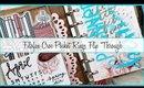 Filofax Pocket Rings Flip Through | Classic Fawn Croc