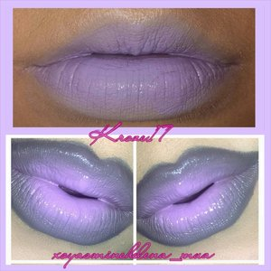 I spend my nights browsing instagram for inspiration for new looks, this (bottom) happens to be one of the looks I found. Say hello to the lovely @xoyasminehelena_mua  I got to use the NYX Macaron Lippies (I hate the word Lippie) ha in Black Sesame and Lavender.  The out come was a lighter version but I'd wear it out with no problem! Thank you again to @xoyasminehelena_mua for the inspiration!  #Xoyasminehelena #nyxcosmetics #macaronlippie #lavender #blacksesame #lips #lipsart #makeup #makeuplook #Beautyshot #beautyproducts #beauty #cosmetics #graylips #purplelips #instabeauty #instamakeup #kroze17
