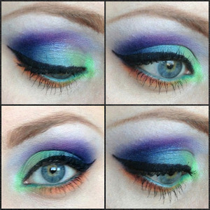 This is the first time I've created a look with so many colours :)