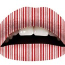 Peppermint Striped Lip Tattoo