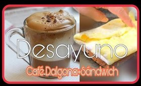 CAFE DALGONA+SANDWICH DE TORTILLA CON HUEVO #QUEDATEENCASA 💖