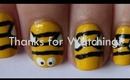 Cute Bumblebee Inspired Nail Art