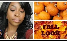 Orange-Brownish and Bronze Fall Look: for women of color
