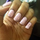 Light Purple with Pink Sparkles