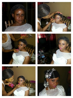 Before and after pix of jenny's wedding....makeup by Emel makeover
