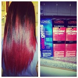 I recently dyed my my sisters hair a red ombre! took a few hours but it was worth it