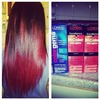 vibrant red ombre !