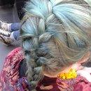 Blue French Braid