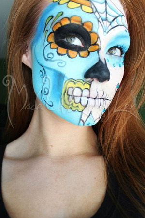 This look was inspired by both the traditional sugar skull that is painted on faces around the time of the Day of the Dead, as well as creations made by people (such as candles). Alexys Fleming ©